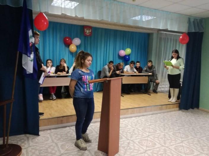 20.11.2020г. прошли Дебаты между кандидатами в председатели ученического совета.
